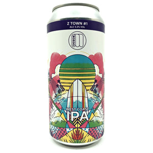 Mondo Z-Town #1 Surf IPA 5.2% (440ml can)-Hop Burns & Black