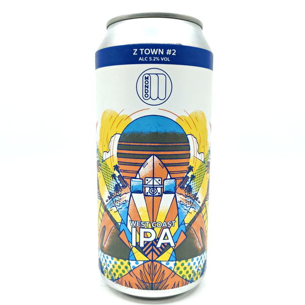 Mondo Z-Town #2 Skate IPA 5.2% (440ml can)-Hop Burns & Black