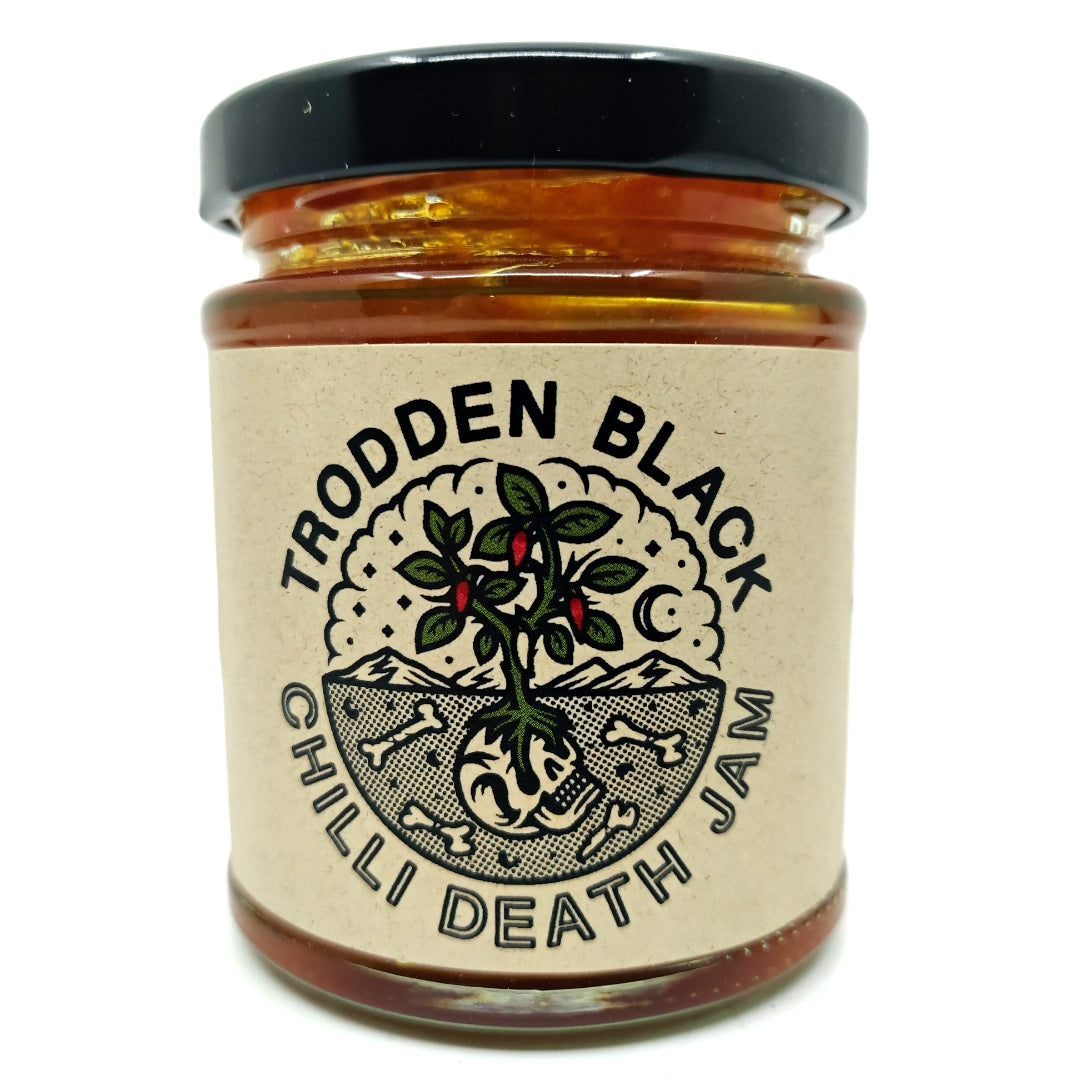 Trodden Black Pineapple Chilli Death Jam (200g)-Hop Burns & Black
