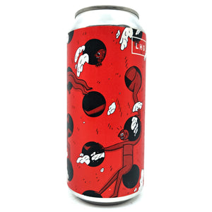 Left Handed Giant Double Dot Matrix Imperial Stout 8.3% (440ml can)-Hop Burns & Black