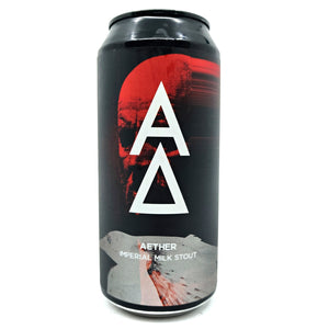 Alpha Delta Aether Imperial Stout 10.5% (440ml can)-Hop Burns & Black