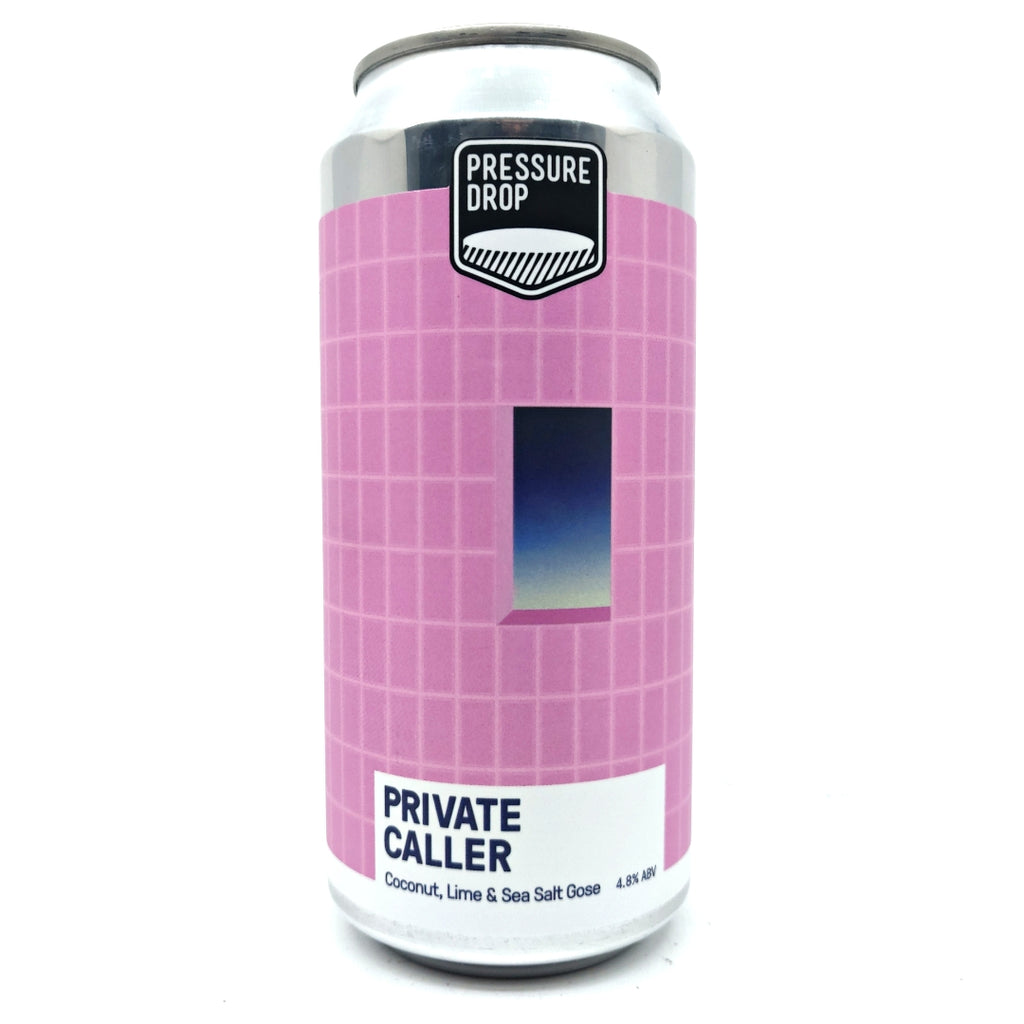 Pressure Drop Private Caller Coconut, Lime & Sea Salt Gose 4.8% (440ml can)-Hop Burns & Black