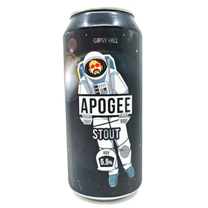 Gipsy Hill Apogee Stout 5.5% (440ml can)-Hop Burns & Black