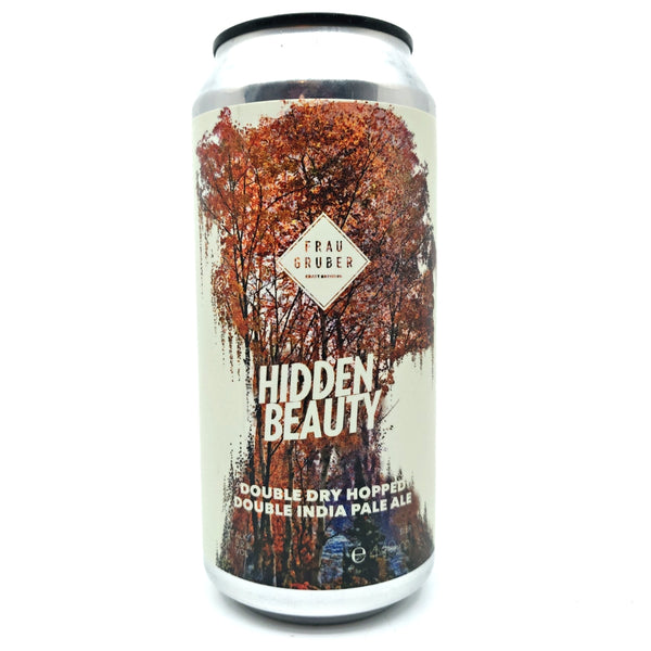 FrauGruber Hidden Beauty DDH DIPA 8.2% (440ml can)-Hop Burns & Black