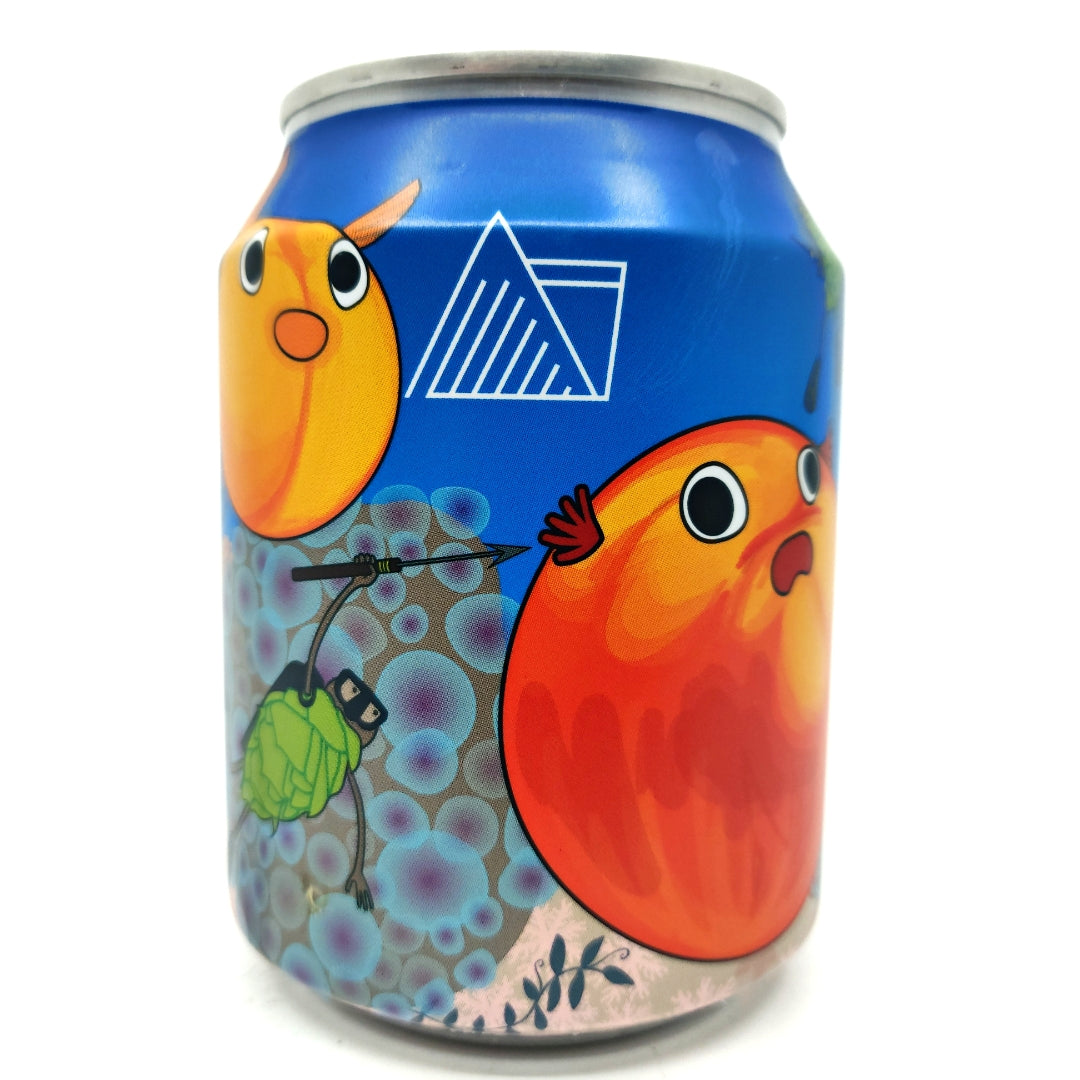 Wander Beyond Gulp Peach & Apricot Imperial Milkshake IPA 12% (250ml can)-Hop Burns & Black