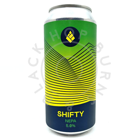 Drop Project Shifty NEPA 5% (440ml can)-Hop Burns & Black