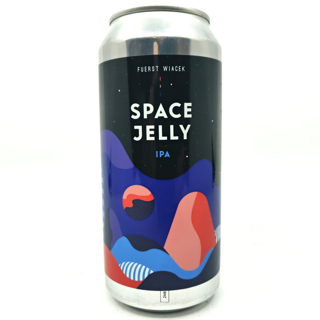 Fuerst Wiacek Space Jelly IPA 6.8% (440ml can)-Hop Burns & Black