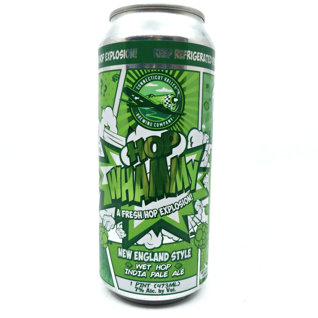 Connecticut Valley Hop Whammy IPA 7% (473ml can)-Hop Burns & Black