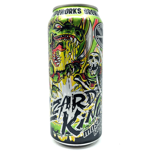 Pipeworks Brewing Lizard King APA 6% (473ml can)-Hop Burns & Black