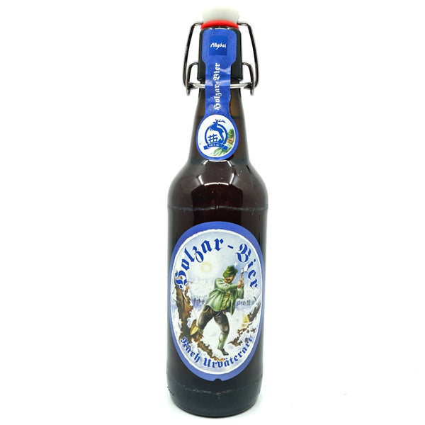 Hirschbrau Hoss Holzar-Bier Export Lager 5.2% (330ml)-Hop Burns & Black