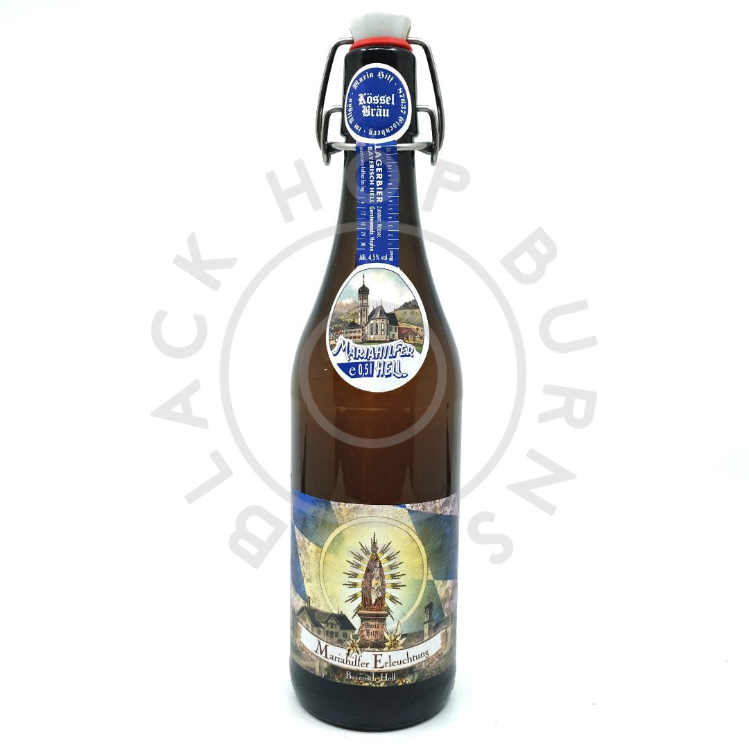 Kossel Brau Mariahilfer Enlightenment (Erleuchtung) Helles (500ml)-Hop Burns & Black