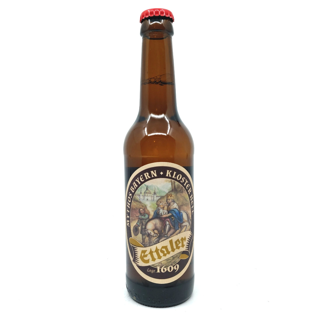 Klosterbrauerei Ettal Mythos Bayern Kloster Hell 4.9% (330ml)-Hop Burns & Black