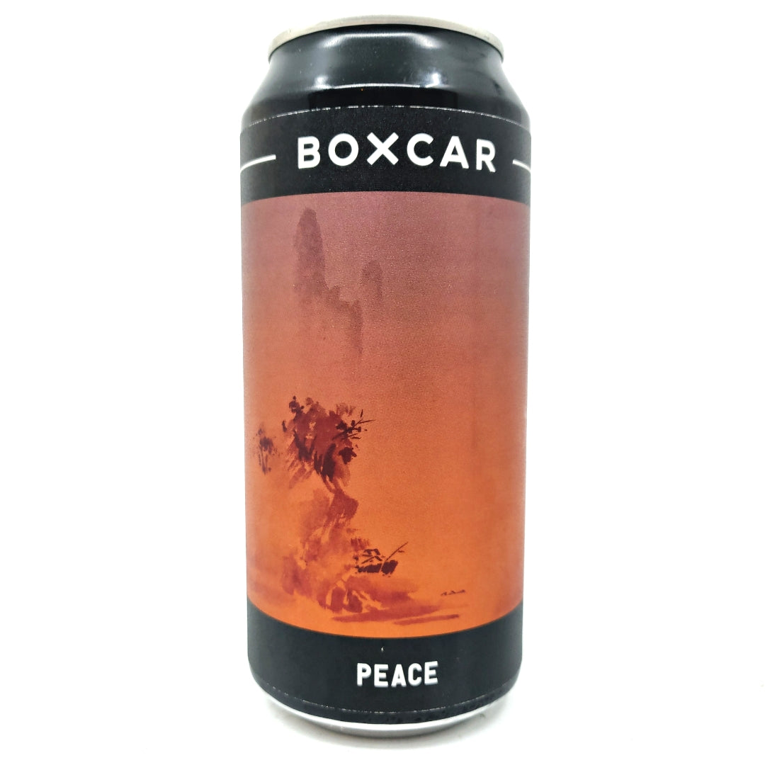 Boxcar Peace Pale Ale 4.8% (440ml can)-Hop Burns & Black