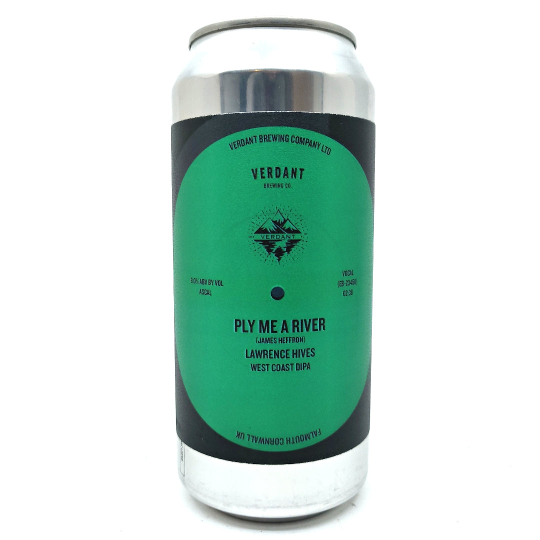 Verdant Ply Me A River Double IPA 8% (440ml can)-Hop Burns & Black