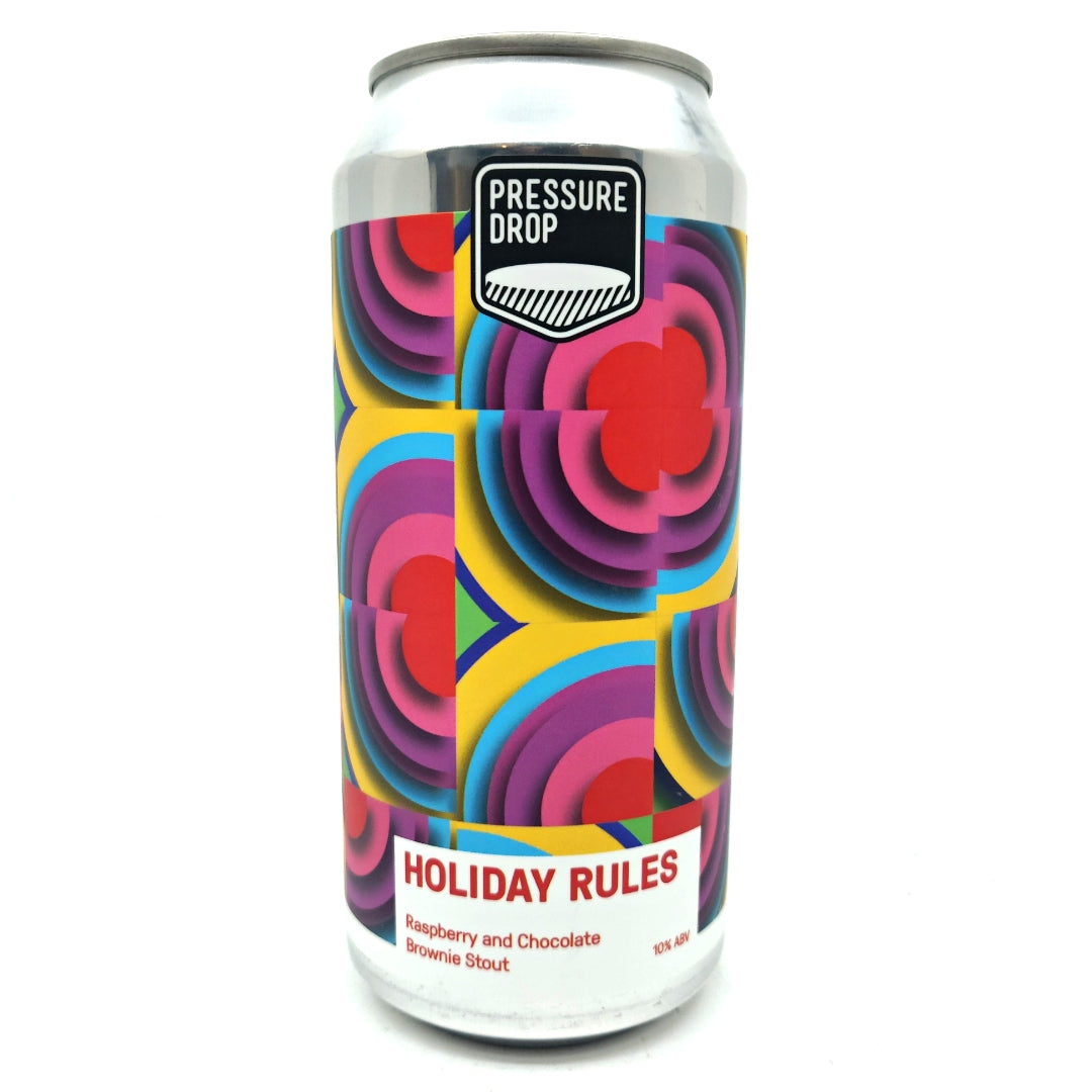 Pressure Drop Holiday Rules Raspberry & Chocolate Stout 10% (440ml can)-Hop Burns & Black