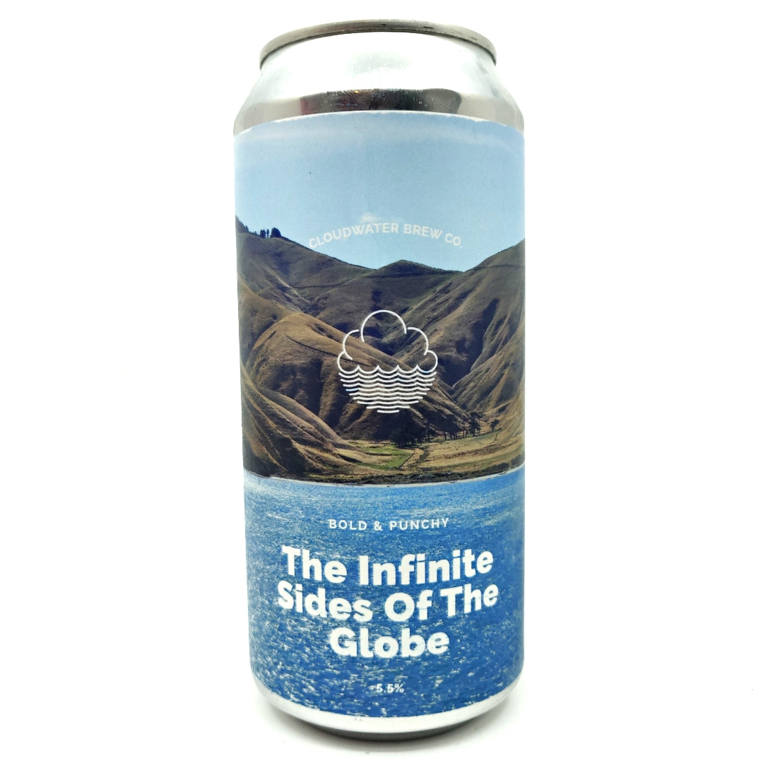Cloudwater The Infinite Sides Of The Globe DDH Pale 5.5% (440ml can)-Hop Burns & Black