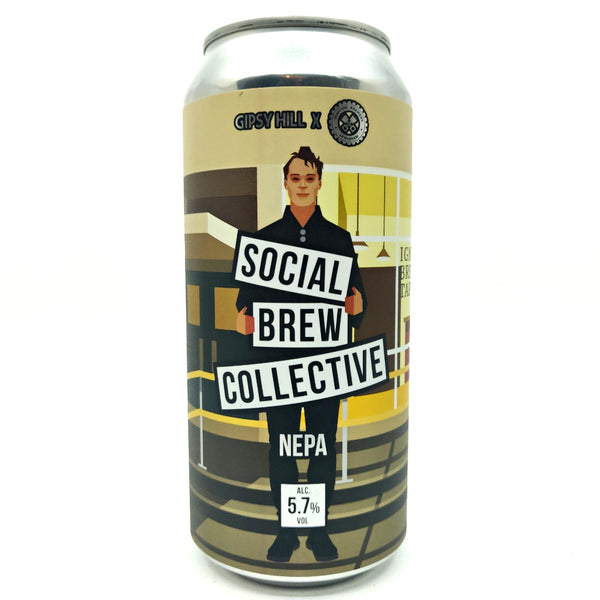 Gipsy Hill Social Brew Collective NE Pale Ale 5.7% (440ml can)-Hop Burns & Black