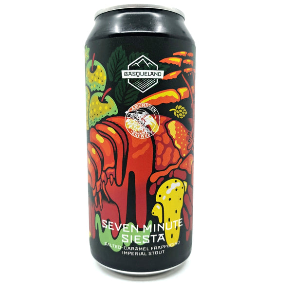Basqueland x Amundsen Seven Minute Siesta Frapuccino Imperial Stout 11% (440ml can)-Hop Burns & Black