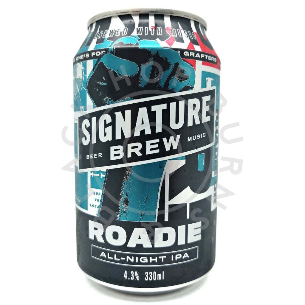 Signature Brew Roadie All-Night IPA 4.3% (330ml can)-Hop Burns & Black