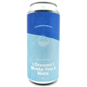Cloudwater I Dreamt I Wrote You A Note Pale Ale 5% (440ml can)-Hop Burns & Black