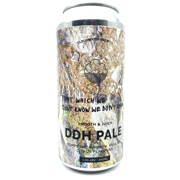 Cloudwater That Which We Don't Know We Don't Know DDH Pale 5.5% (440ml can)-Hop Burns & Black