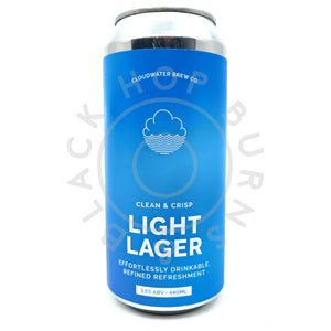 Cloudwater Light Lager 3.5% (440ml can)-Hop Burns & Black