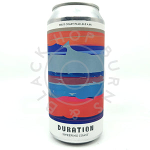 Duration Sweeping Coasts West Coast Pale Ale 4.8% (440ml can)-Hop Burns & Black