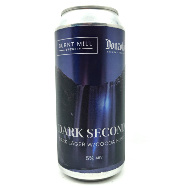 Burnt Mill x Donzoko Dark Second Lager 6.4% (440ml can)-Hop Burns & Black