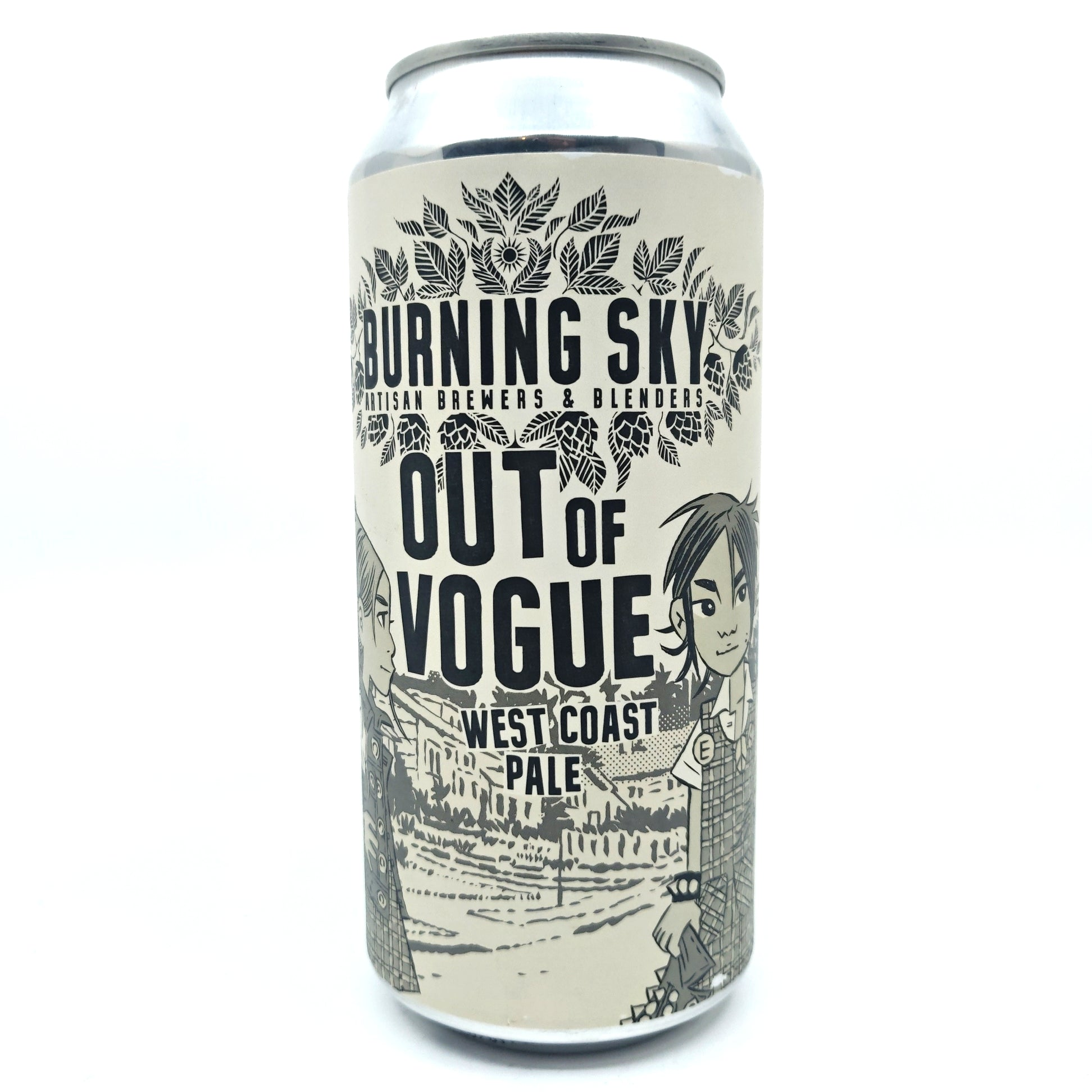Burning Sky Out Of Vogue Pale Ale 5.9% (440ml can)-Hop Burns & Black