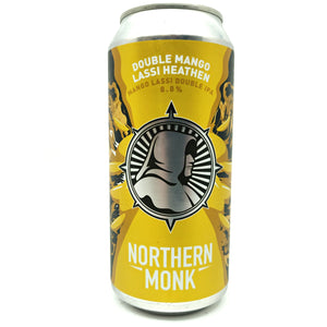 Northern Monk Double Mango Lassi Heathen IPA 8.8% (440ml can)-Hop Burns & Black