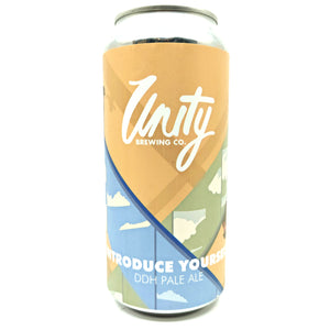 Unity Brewing Introduce Yourself DDH Pale 5.2% (440ml can)-Hop Burns & Black
