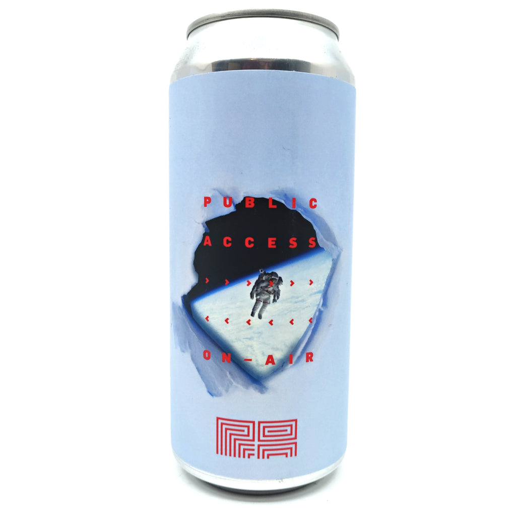 Public Access Liquids On Air DIPA 8% (473ml can)-Hop Burns & Black
