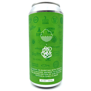Cloudwater Educated Guest IPA 6% (440ml can)-Hop Burns & Black