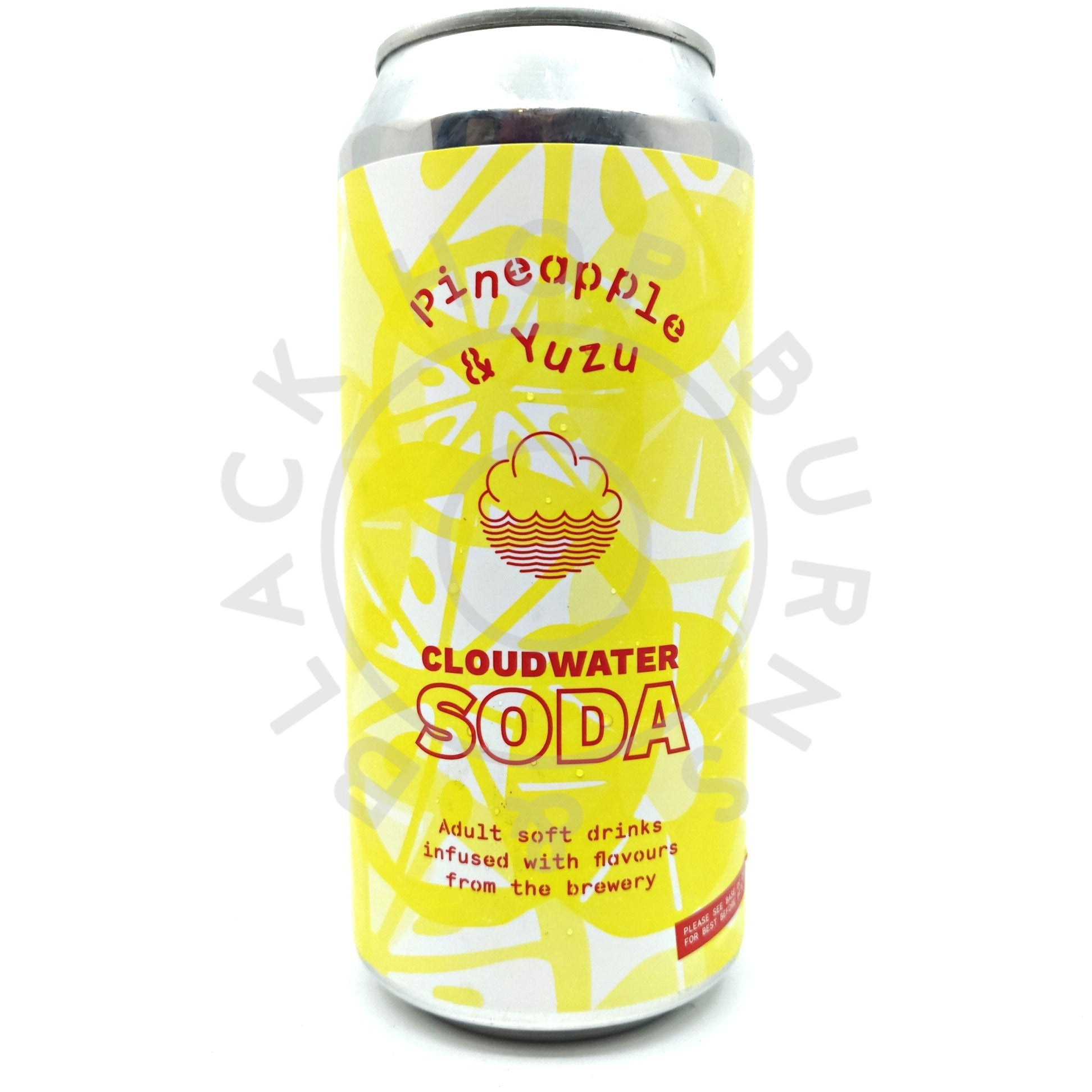 Cloudwater Soda Pineapple & Yuzu (440ml can)-Hop Burns & Black