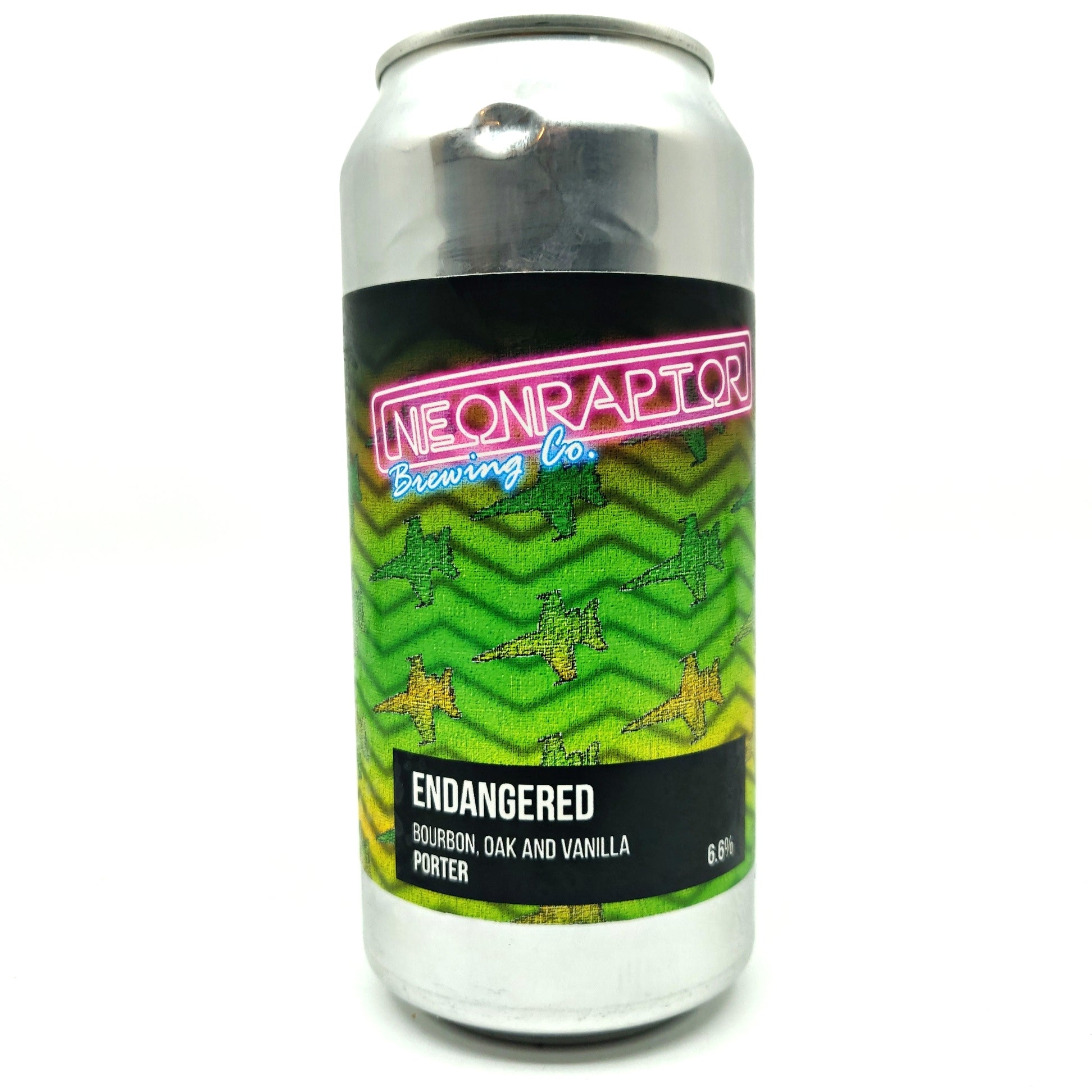 Neon Raptor Endangered American Porter 6.6% (440ml can)-Hop Burns & Black