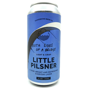 Cloudwater Both Sides of a Bridge Little Pilsner 3% (440ml can)-Hop Burns & Black