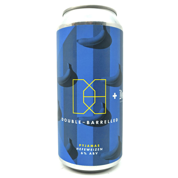Double Barrelled x Donzoko Pyjamas Hefeweizen 6% (440ml can)-Hop Burns & Black