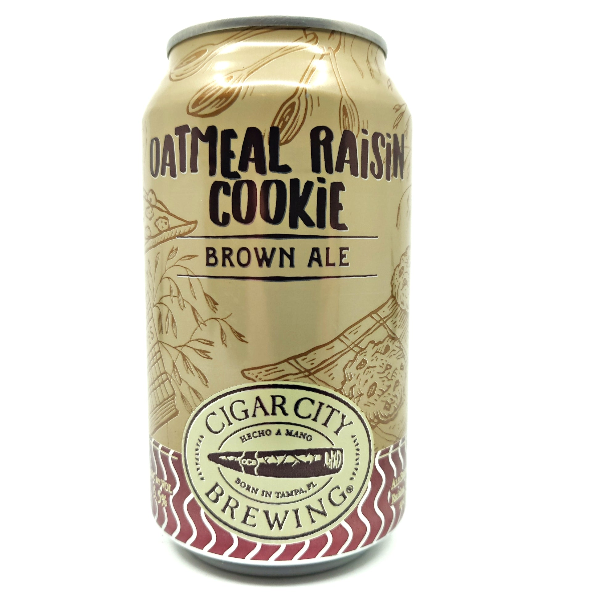 Cigar City Oatmeal Raisin Cookie Brown Ale 5.5% (355ml can)-Hop Burns & Black