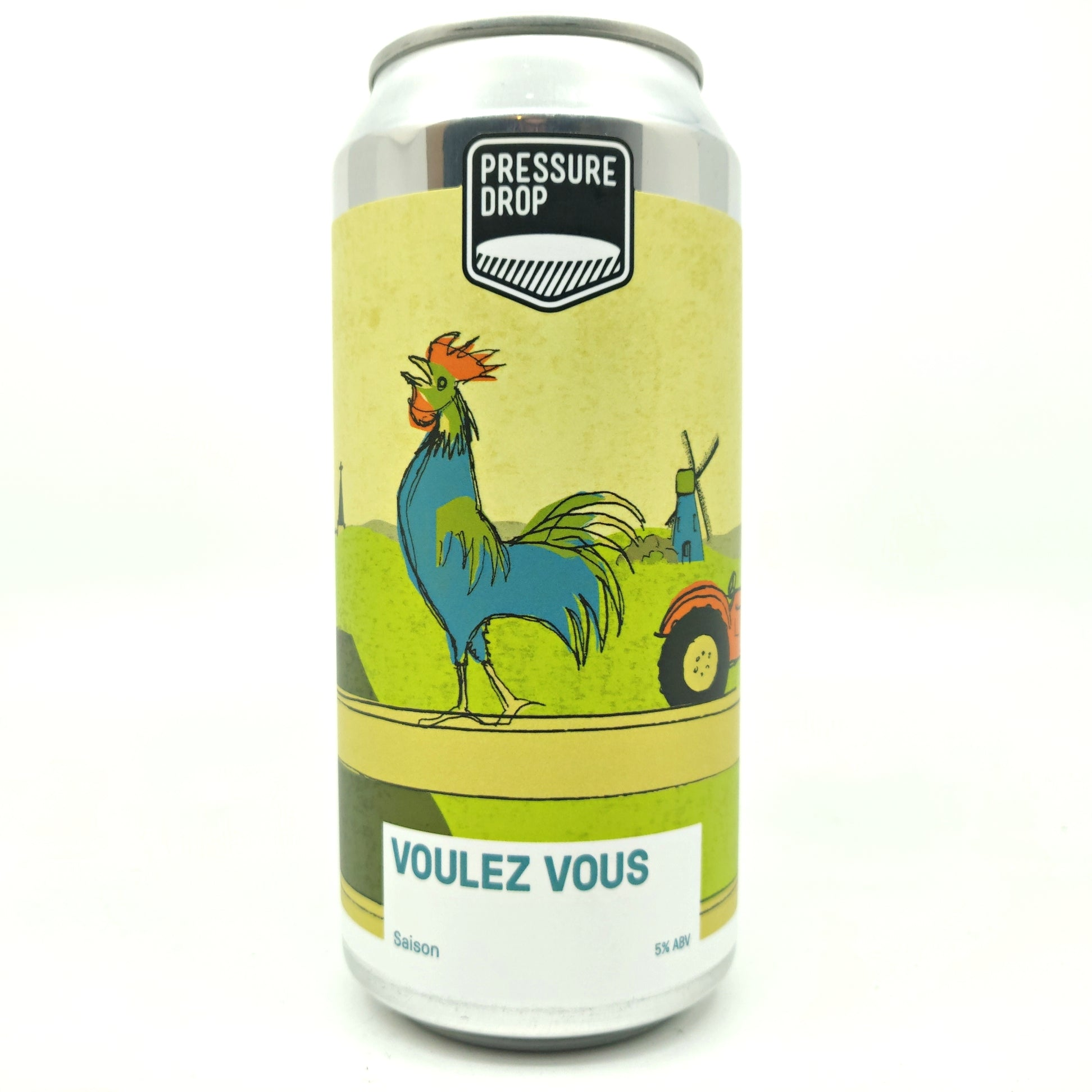 Pressure Drop Voulez Vous Saison 5.2% (440ml can)-Hop Burns & Black