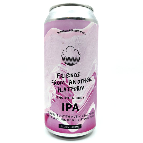 Cloudwater Friends From Another Platform IPA 6% (440ml can)-Hop Burns & Black