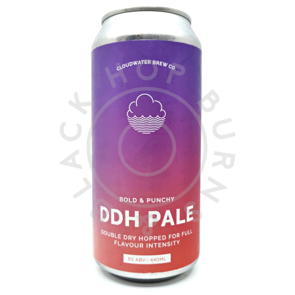 Cloudwater DDH Pale 5% (440ml can)-Hop Burns & Black