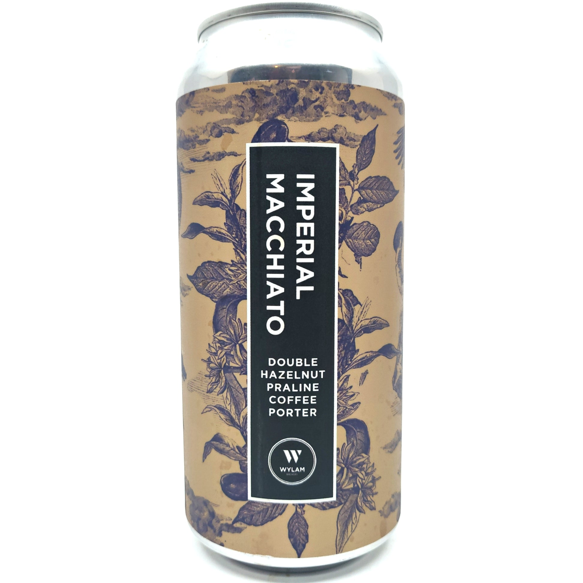 Wylam Imperial Macchiato Double Hazelnut Praline Coffee Porter 10% (440ml can)-Hop Burns & Black