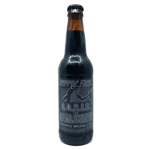 Hoppin' Frog Q.O.R.I.S. the Quasher Quadruple Imperial Stout 15.7% (355ml)-Hop Burns & Black