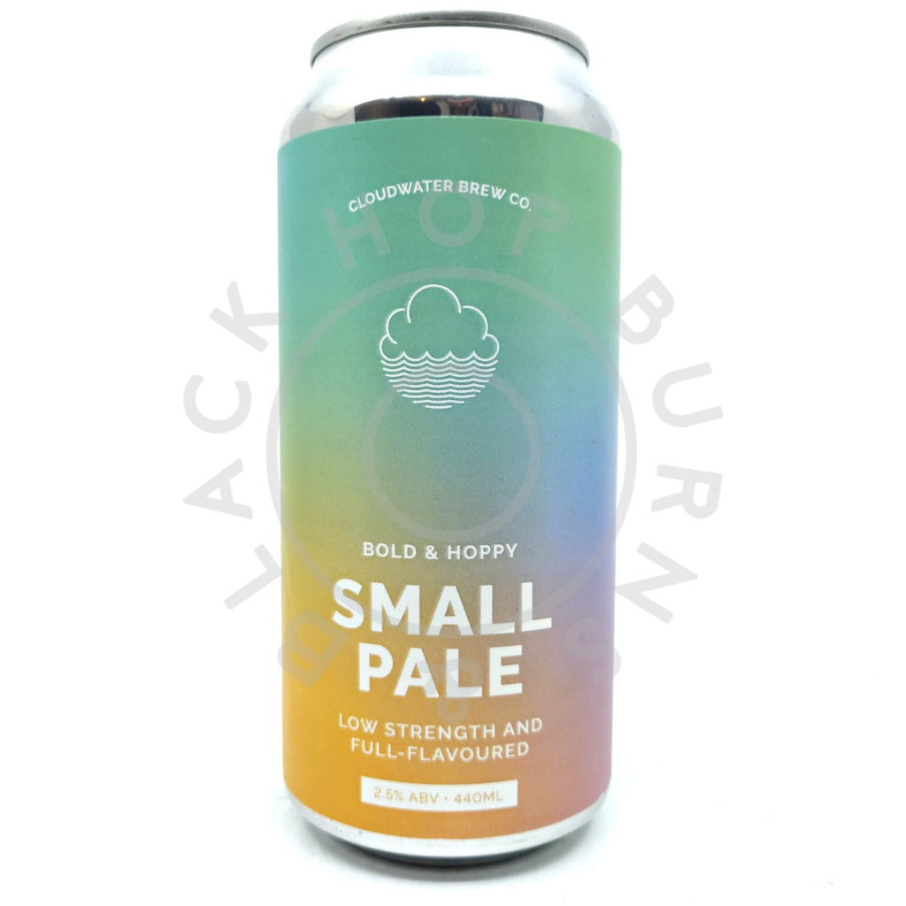 Cloudwater Small Pale 2.5% (440ml can)-Hop Burns & Black