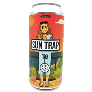 Gipsy Hill Sun Trap New England IPA 6.5% (440ml can)-Hop Burns & Black
