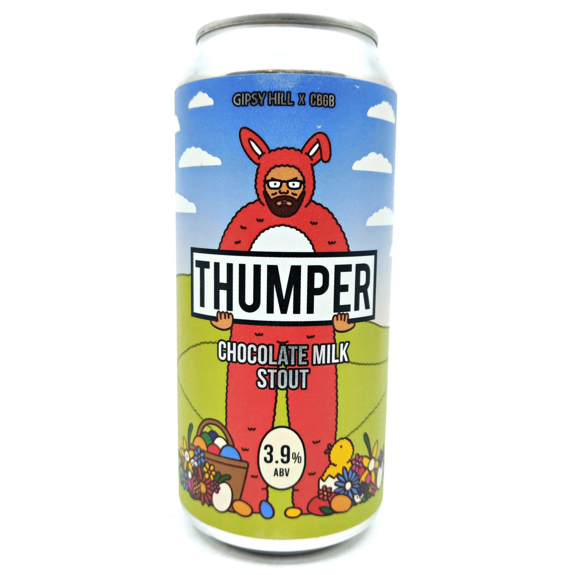 Gipsy Hill Thumper Chocolate Milk Stout 3.9% (440ml can)-Hop Burns & Black