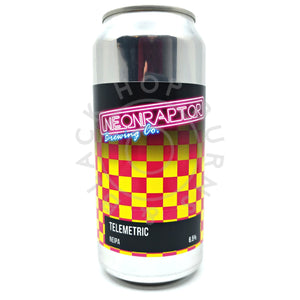 Neon Raptor Telemetric NEIPA 6.5% (440ml can)-Hop Burns & Black