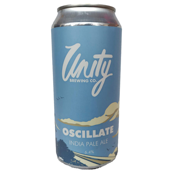 Unity Brewing Oscillate IPA 6.4% (440ml can)-Hop Burns & Black