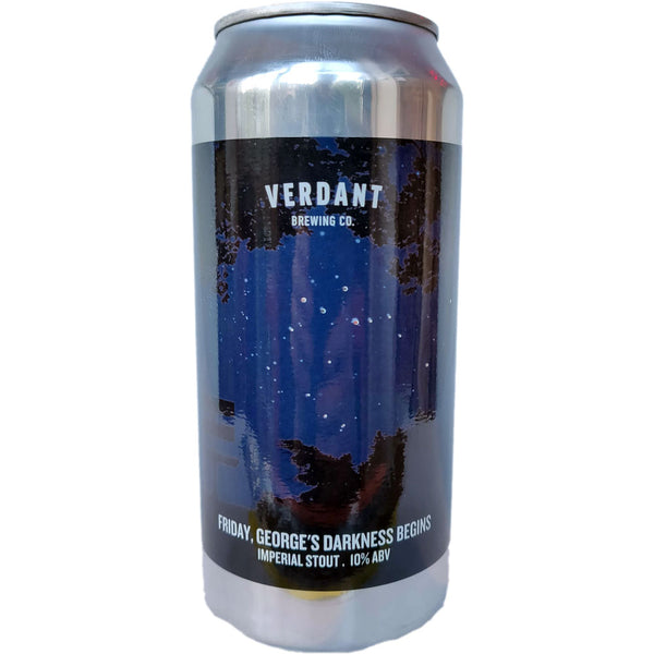 Verdant Friday, George's Darkness Begins Imperial Stout 10% (440ml can)-Hop Burns & Black