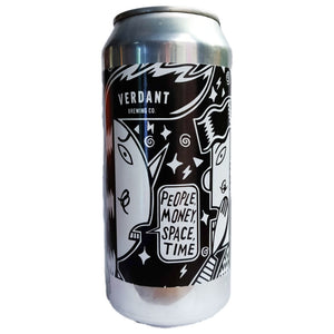 Verdant People, Money, Space, Time Pale Ale 3.8% (440ml can)-Hop Burns & Black